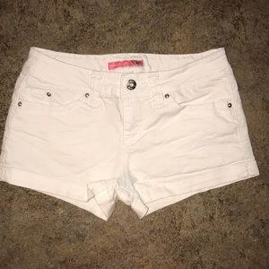 Girls Cute White Shorts